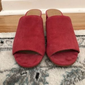 Coral Halogen Faye Asymmetrical Slide Heels 7.5